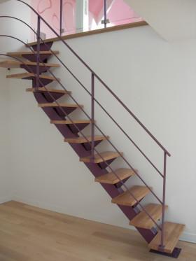 escalier ysos quartier tournant ysofer. Black Bedroom Furniture Sets. Home Design Ideas
