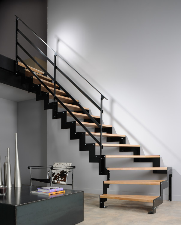 ysocrema escalier quart tournant metal et bois ysofer. Black Bedroom Furniture Sets. Home Design Ideas