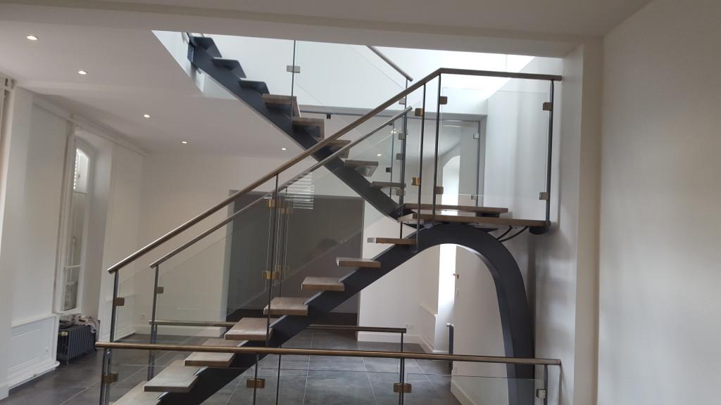 beautiful escalier droit design contemporary joshkrajcik. Black Bedroom Furniture Sets. Home Design Ideas