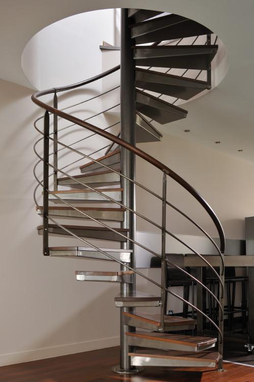 ysolis escalier h lico dal m tal et bois ysofer. Black Bedroom Furniture Sets. Home Design Ideas