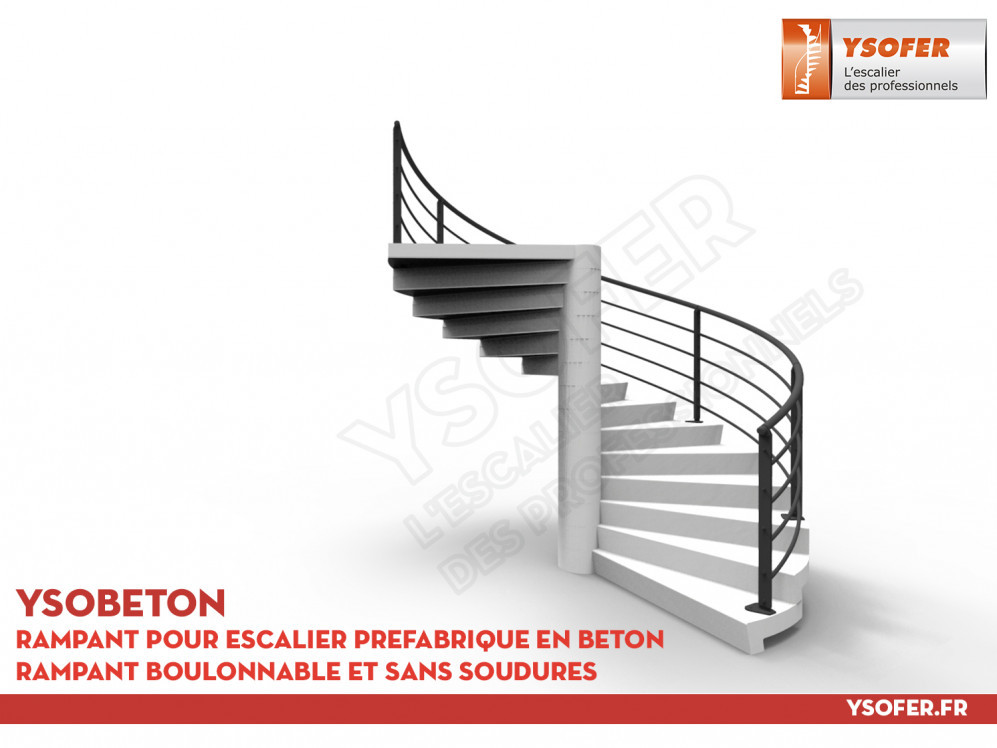 ysobeton rampant pour escalier pr fabrique en beton ysofer. Black Bedroom Furniture Sets. Home Design Ideas