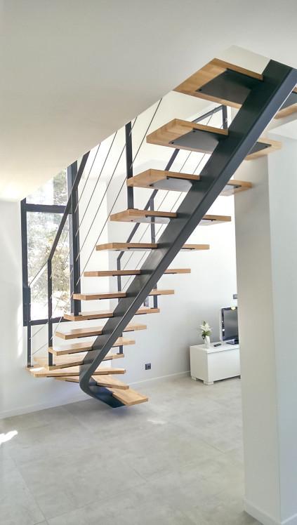 escalier ysosteel quartier tournant ysofer. Black Bedroom Furniture Sets. Home Design Ideas